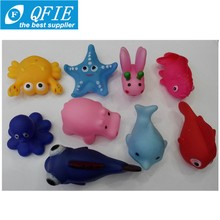 Wholesale children bath toys squeezed called baby toys with animal shape plastic cute toys