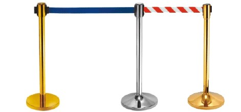2 meter retractable belt superior series wide advertising barrier stand