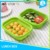 Anti-stain silicone single layer food lunch box
