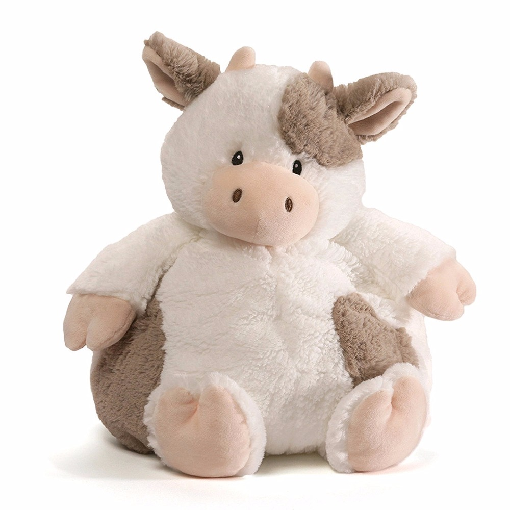 Well-designed brown animal cow stuffed and plush toy for child