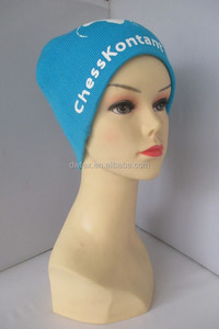 Wholesale acrylic printing bule color beanie hat