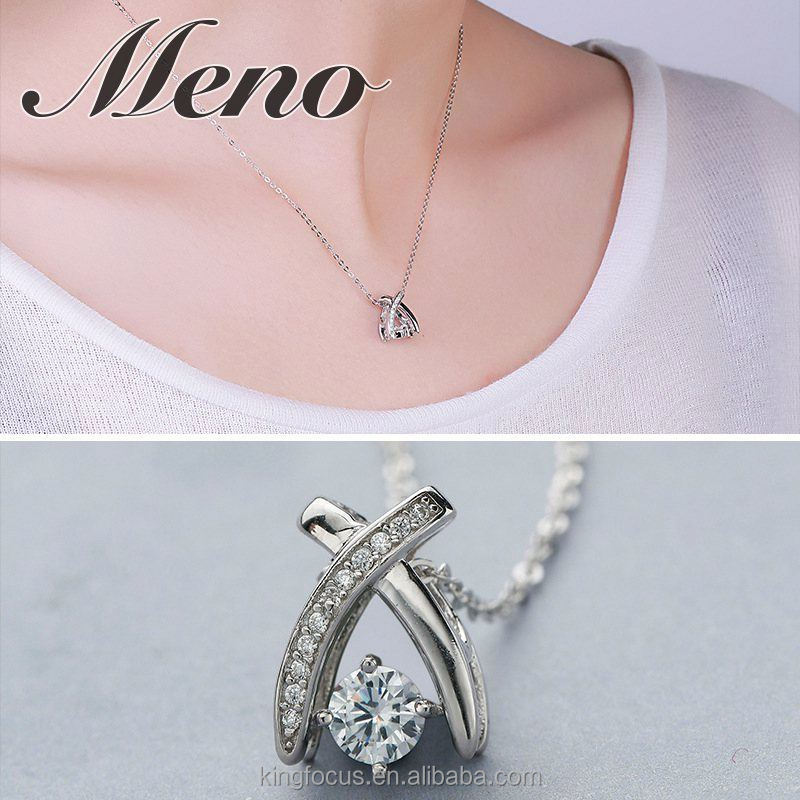 Meno S925 silver necklace modern stylish