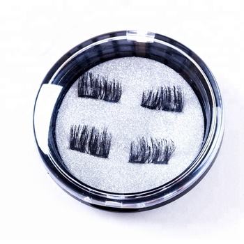 Natural looking 4 pair eyelash box buy premade russian volume lashes 3D magnetic Lashes