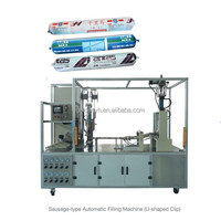 Sausage type filling machine for silicone sealant, automatic type