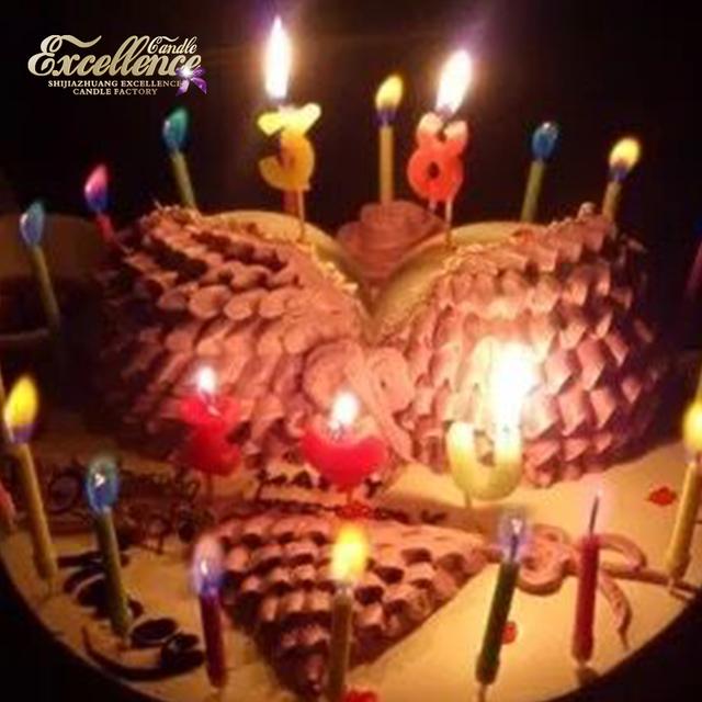 2017 Hot Selling Candle Birthday Long Burning Cake Wholesale