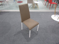 Customized pvc seat power coating white metal legs dining chairs office chairs