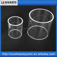 Fused short cutting quartz glass tube from china