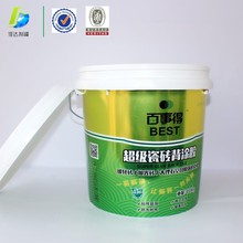 10kg custom stackable IML new bucket for coating latex paint