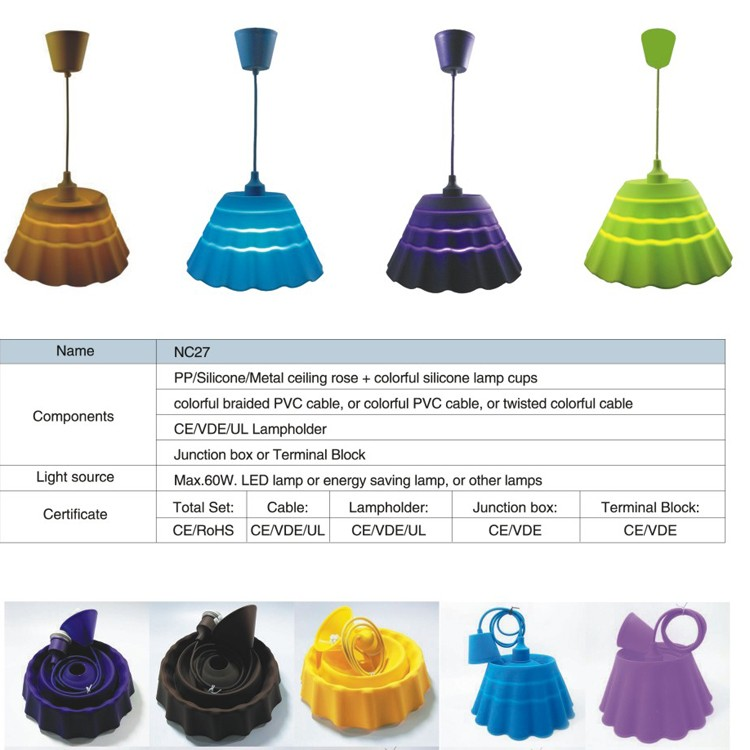 hottest fashion led chandelier, pendant light, best material fitting used silicone pendant lamp
