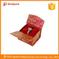 Chinese manufacturer traditional asian style jewelry ring box for wholesale