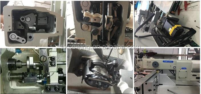 Auto pocket attaching sewing machine for jeans