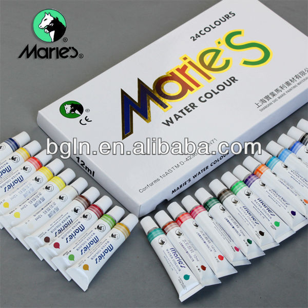 Marie's 12ml 24colors water colour paint set