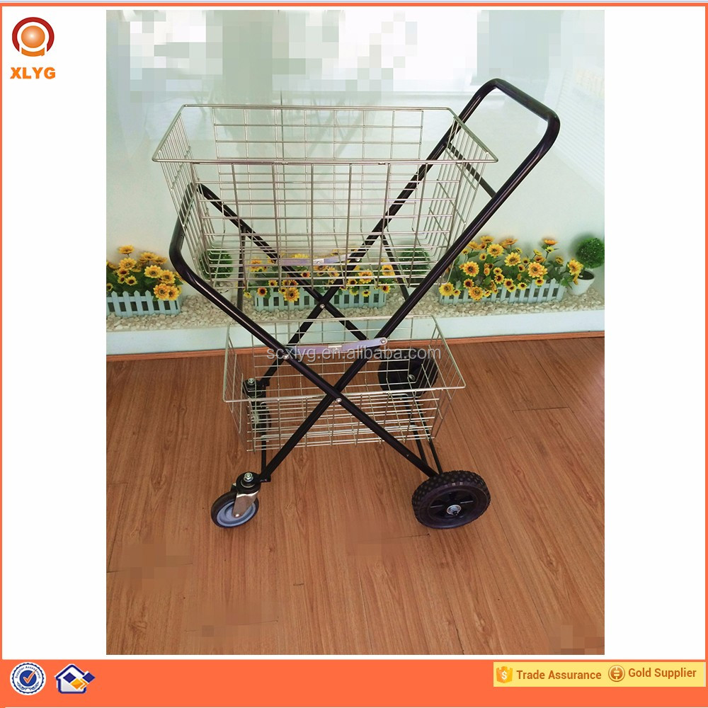 Fashionable Wheel Folding Shopping Cart With Seat For Stairs Climbing,Folding Shopping Cart