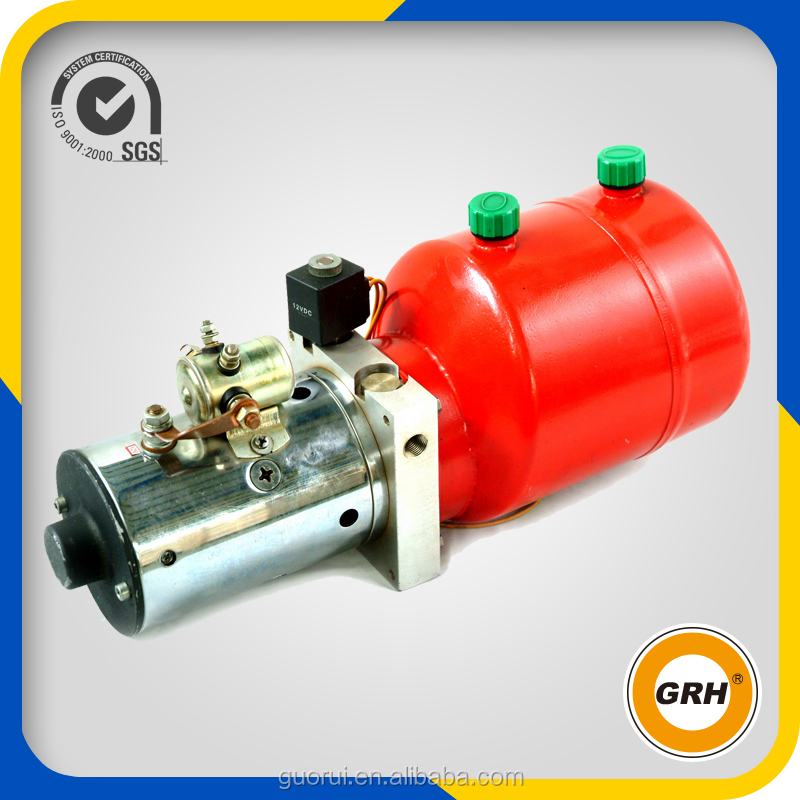 gas powered hydraulic power unit with motor and hand pump