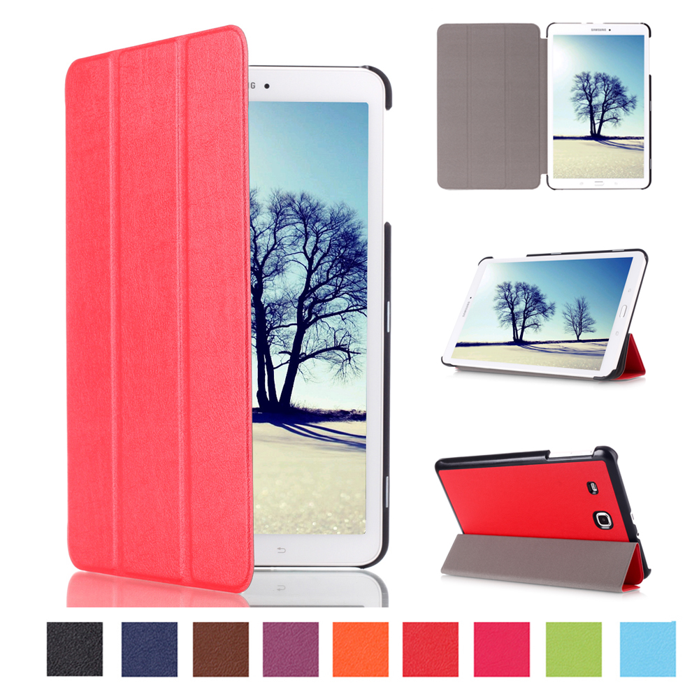 New Arrival Smart PU Leather Tablet Case Cover for Samsung galaxy tab e 8.0 SM-T377