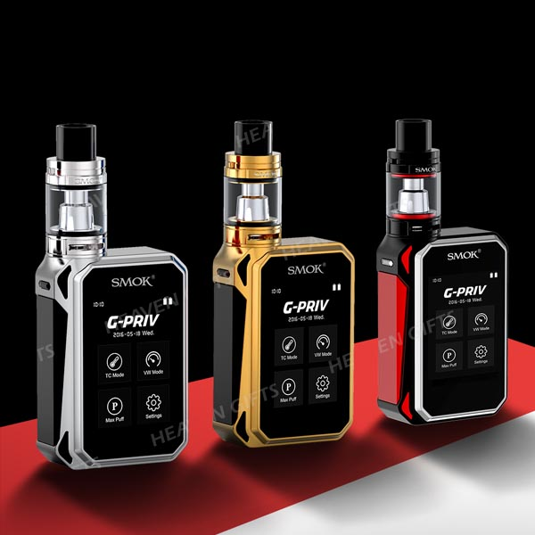 "2.4"" super touch screen SMOK GPRIV 220W, 5ml G-PRIV G PRIV 220 electrical cigarettes"