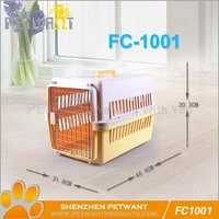 Dog kennel cage stainless steel/dog transport plastic cages