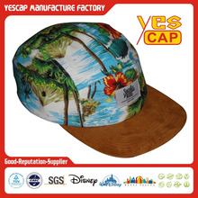 suede fabric brim 5 panel hawaii caps / hats