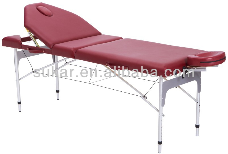 High quality cheap Adjustable 3 section Aluminum Massage Table