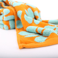 Various good quality siro spinning cotton yarn towel with prints