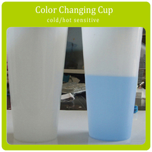 Cold sensitive temperature control Color Changing Plastic Cup