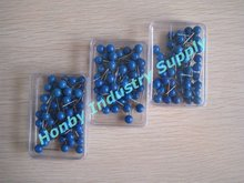 6mm Plastic Ball Head Navy Blue Color Map Pin for Crafts Office Using