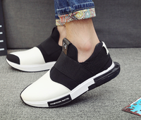 Men leather shoes casual man leisure new fashion football shoes