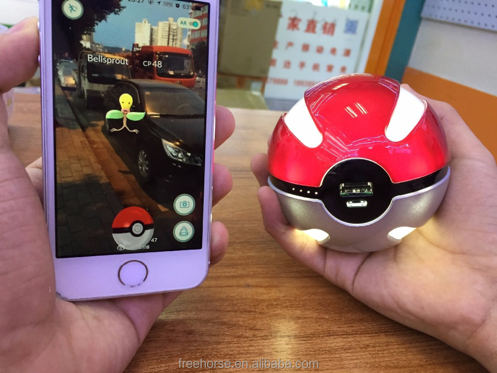 Hot New products 2016 Cartoon 6000mah pokemon go pokeball power bank