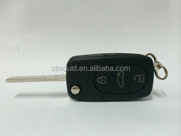 Auto parts plastic mould for 3 buttons key made in china