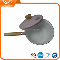 20cm wholesale promotional pink enamel cooking pots and pans