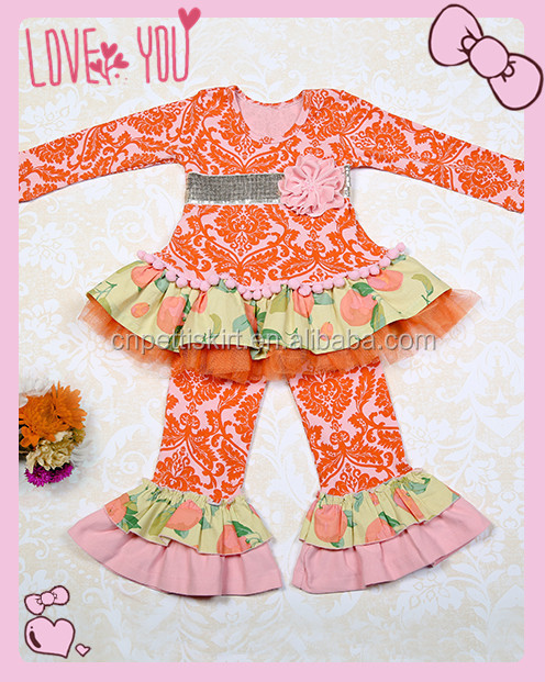 2017 koya thanksgiving baby clothes cute giggle moon remake girls fall outfits