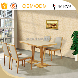Fast food restaurant furniture wooden durable restaurant table and chair