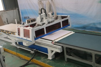 cabinet solution cnc router machine with loading and unlaoding