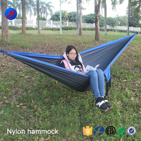 Best selling products double parachute hammock with tree straps and aluminum carabiners