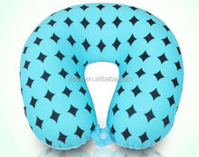 U-Shape Micro Beads Neck Roll Pillow Travel Pillow with Button