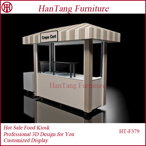 Shopping mall crepe fast kiosk food indoor food kiosk for for Indoor food kiosk design