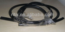 20m black PVC solid core light PMMA optical fiber cable;inner diameter:8mm;outer diameter;11mm