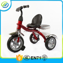 EN71 approved mental baby tricycle/kids trike with basket