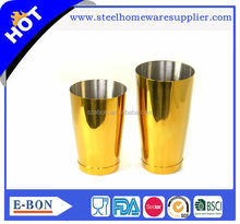 High quality advanced bar stainless steel copper boston cocktail shaker