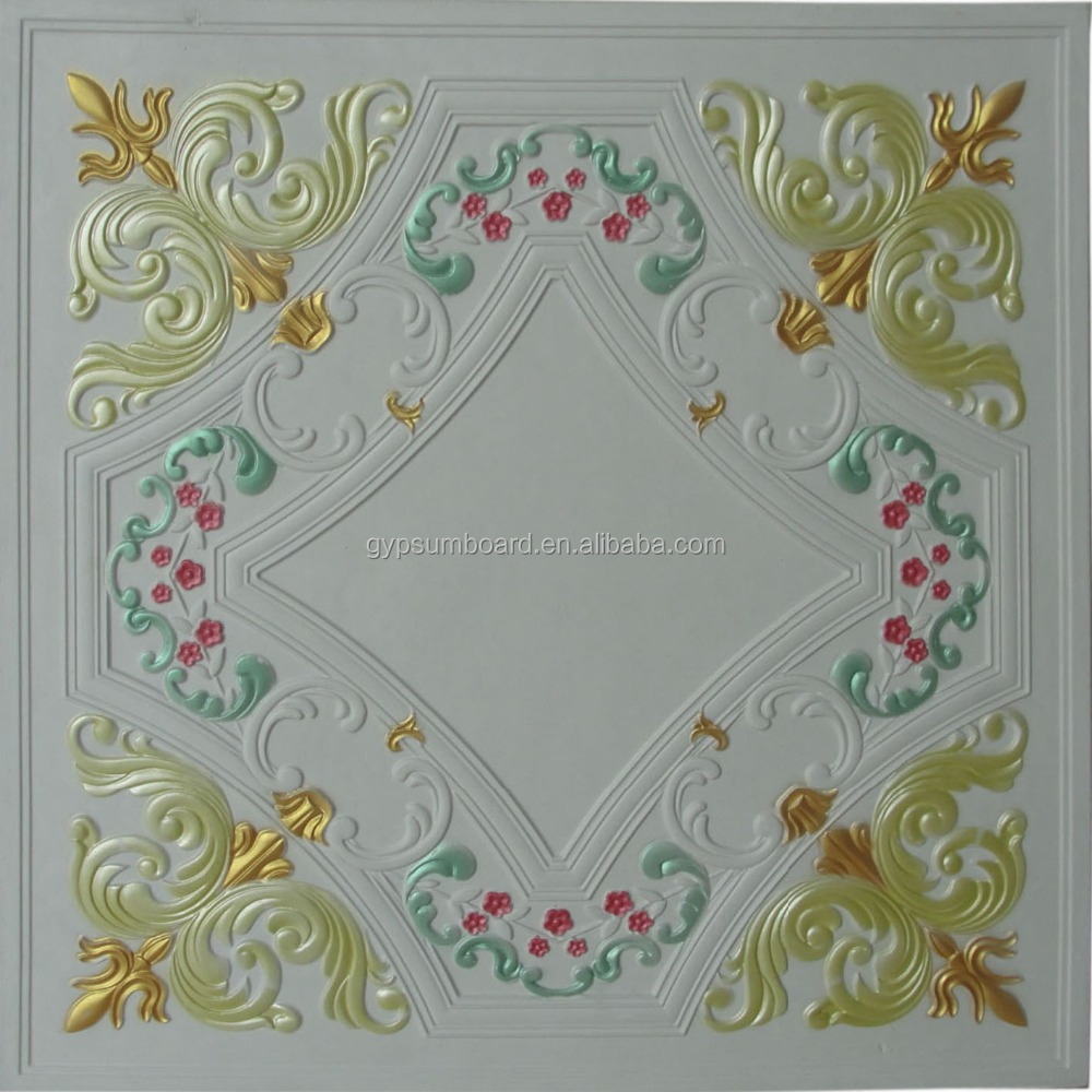 high acoustic ceiling tiles colorful gypsum ceilling for India Christian