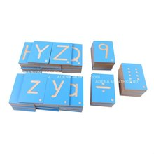 montessori materials,montessori toys,educational Wooden Toy - Wood - Number & Letter Tiles.