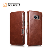 ICARER Genuine Leather Wallet Case For Samsung Galaxy S7 Real Leather Flip Cover Vintage Series