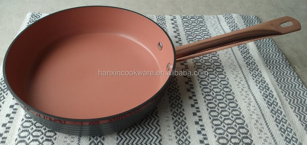 New items aluminum colorful Hard Anodized non stick fry pan