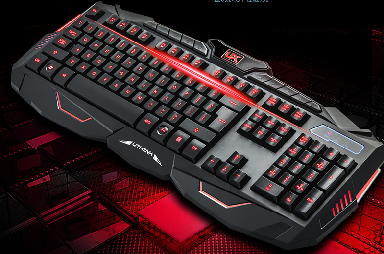 Luminous computer gaming keyboard and mouse set gamer keyboard and mouse