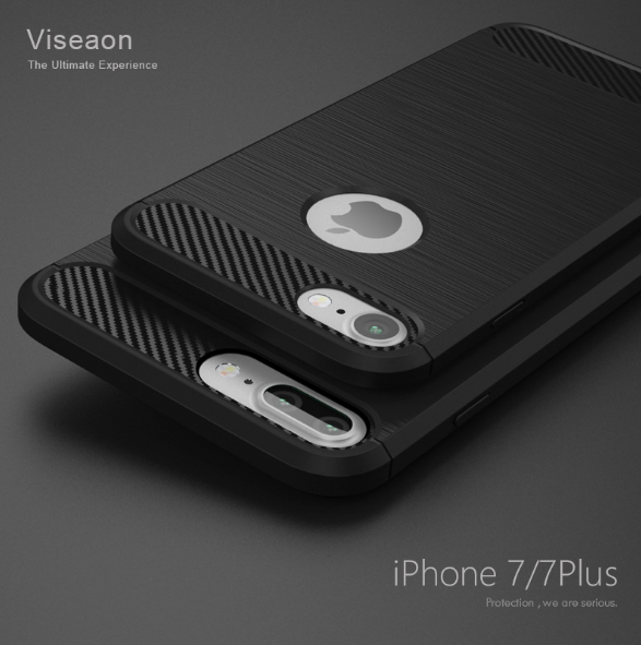 Hot selling carbon fiber design TPU+PC material Wire drawing mobile phone case for iphone 6s <strong>plus</strong>