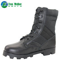 Factory 39-46 EUR Mens Military Tactical black leather swat police boots