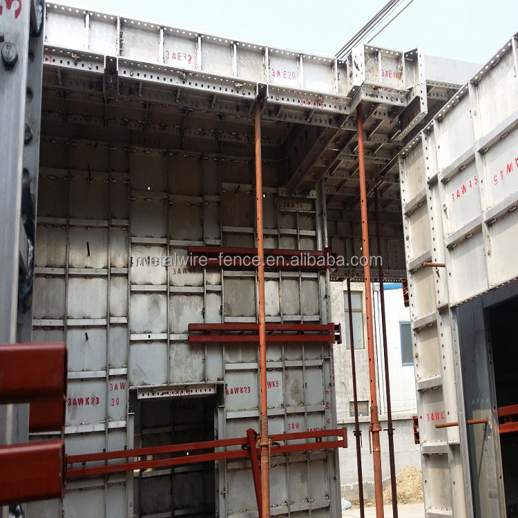 Construction formwork tie rod for aluminum formwork