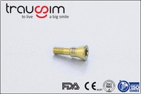 Titanium surgical screws for orthodontic anchorage