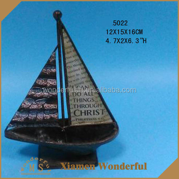 antique metal crafts sail boat model from china