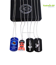 custom stainless steel making funny metal cheap dog tag at low price for people/kids